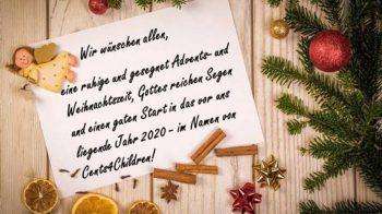 Cents 4 Children wünscht allen Spendern frohe Weihnachten und dankt für ein erfolgreiches Jahr 2019